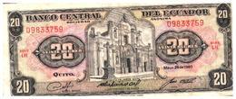 Billets >   Equateur,  > 20 Sucres 1980 - Ecuador