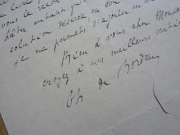Charles De BORDEU (1857-1926) Ecrivain & Poète. Ami Francis JAMMES. Maire ABOS. BEARN. Autographe - Handtekening