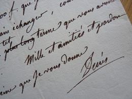 AMIRAL Denis DECRES (1761-1820) MINISTRE De La MARINE De NAPOLEON Bonaparte. AUTOGRAPHE - Autogramme & Autographen