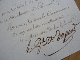 General DUPONT DE L'EURE - Autographes
