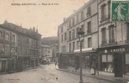 Loire : BOURG-ARGENTAL : Place De La Cité ( Avec Lampadaire - Magasin G. Martin ) - Bourg Argental