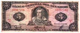 Billets >   Equateur,  > 5 Sucres 1988 - Ecuador