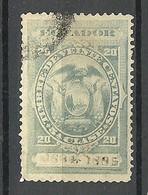 ECUADOR 1884/1885 Revenue Tax Stamp 20 C. O - Ecuador
