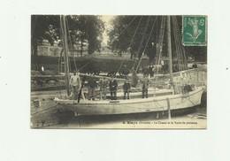 33 - BLAYE - CP RARE - Le Chenal Et Le Yacht De Plaisance Trés Gros Plan Animé Bon état - Blaye