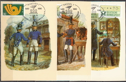 Germany 3 Picture Post Cards With Special Cancels - Post