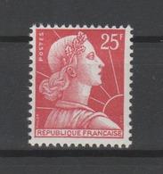 FRANCE / 1955 / Y&T N° 1011C ** : Marianne De Muller 25F (type I) - Gomme D'origine Intacte - France