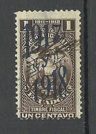 ECUADOR 1917/18 Revenue Tax Stamp Timbre Fiscal O - Ecuador