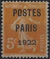 FRANCE Préoblitérés N°34 & 37 Oblitérés POSTES PARIS 1922 & POSTES FRANCE 1922 1er Choix Signé Calves - Préoblitérés