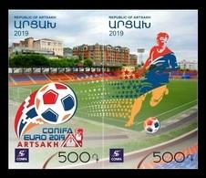 Armenia (Nagorno-Karabakh) 2019 Mih. 197/98 2019 ConIFA European Football Cup In Nagorno-Karabakh MNH ** - Arménie