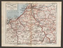 CARTE PLAN 1929 - BAYONNE BIARRITZ CAMBO - ESPAGNE SPAIN - IHOLDY IRUN FONTARABIE URDAX La BASTIDE - Topographische Kaarten