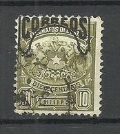CHILE 1904 Telegrafos 10 C. Michel 63 O - Chile