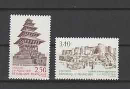FRANCE / 1991 / Y&T SERVICE N° 108/109 ** : UNESCO (Bagdaon/Hérat) X 1 Paire - Service