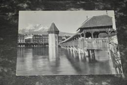 6380      LUZERN, KAPELLBRÜCKE UND PILATUS - 1958 - LU Lucerne