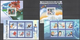 S1016 2010 UNION DES COMORES SPORT OLYMPIC GAMES 2010 VANCOUVER WINNERS 2KB+2BL MNH - Inverno2010: Vancouver