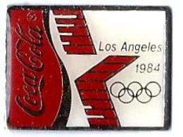COCA-COLA - C16 - JO LOS ANGELES 1984 - Sponsor COCA COLA - Verso : C 1980 LAOO € - Coca-Cola