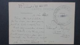 CPA Le Creusot 1919 Cachet De L'Infirmerie De Place Caserne Sercey - Marcofilia (sobres)