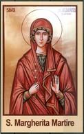 SANTINO - S.Margherita Martire - Santino Con Preghiera, Come Da Scansione. - Images Religieuses
