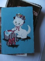 Chat White Cat Katze With Hat - Geklede Dieren