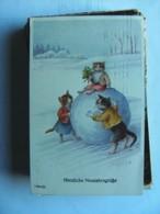 Öhler Ohler Chats Katzen Cats With Snowbal - Geklede Dieren