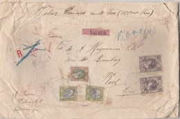 Einschreiben-Wert-Brief-15,000 Frs. Siegelbrief Von Scheveningen Nach Biel/Schweiz-Wertsendung. - 1891-1948 (Wilhelmine)