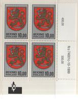 PIA - FINLANDIA - 1974/1999 : Stemma Nazionale - (Yv 708 X 4) - Finlandia