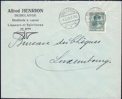 Lettre Commerciale Alfred Henrion Distillerie à Vapeur Dudelange, Cachet 4.8.1924, Michel: 128 - Luxembourg