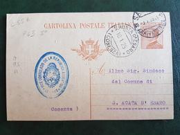 (41231) STORIA POSTALE ITALIA 1925 - Marcophilie