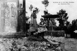 S2123 Cpa 18 Scènes De La Vie Des Champs Par Rameau Fils - Bavardage - France
