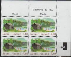 PIA - FINLANDIA - 1999 : Vecchia Sauna Finlandese  - (Yv 1450 X 4) - Finlandia