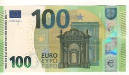 100 EURO  NEW  DRAGHI. N 001 E3    NZ3500496552 /   FDS - UNC - EURO