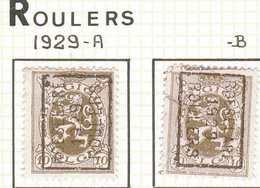 OCVB N° 5165    ROESELARE 1929 ROULERS  A &  B - Préoblitérés