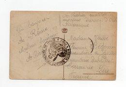 !!! PRIX FIXE : CACHET MISSION MILITAIRE FRANCAISE EN ITALIE SUR CPA DE ROME - Postmark Collection (Covers)