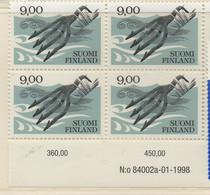PIA - FINLANDIA  - 1984/1998 : Artigianato - Arpione Per La Pesca - (Yv 903a X 4) - Nuovi