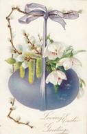 Loving EASTER Greetings , Blue-ish Egg , 00-10s ; TUCK - Easter