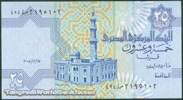 TWN - EGYPT 57f10 - 25 Piastres 25.12.2008 DEALERS LOT X 5 UNC - Egitto