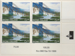 PIA - FINLANDIA  - 1998/1999 : 150° Anniversario Dell'inno Nazionale - (Yv 1440 X 4) - Nuovi