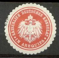S8119 - Siegelmarke DR Peru Konsulat In Arequipa - Vignetten (Erinnophilie)