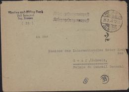 Guerre 39 45 Marlag Und Milag Nord Post Tarmstedt Bremen Kriegsgefangenenpost Très Rare Marin Prisonnier CAD Tarmstedt - Briefe U. Dokumente