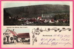 Rothbach - Gasthaus Zum Schwan - Emil Schmitt - Animée - 2 Vues - Edit. J. WEISSMÜLLER - 1912 - Colorisée - France