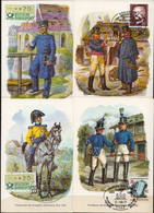 Germany 7 Picture Post Cards With Special Cancels - Post