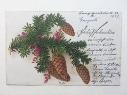 Germany 1929 Christmas Postcard Sent To England - Christmas