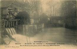 SOMME  MONSURES  Moulin,mouture De Grains ,aplatissage D'avoine  HELLUIN Fils - France