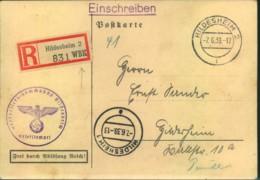1939, R-Karte Wehrbezirkskommandot HILDESHEIM Einberufeung Zur Übung Juni 1939 - Alemania