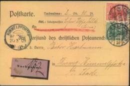 1090, Nachnahmekarte Des CHRISTKICHEN POSAUNENCHORES, Nach Himmelpforten - Christentum