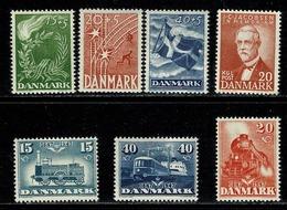Danmark 1947,  Yv. 308/10**, 311/13**, 314**,  Mi. 295/97**, 298/300**, 301**, Fa 322/24**, 325/27**, 328** MNH - 1913-47 (Christian X)