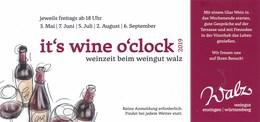 AK Vaihingen / Enz Weingut Walz 2019 It`s Wine O`clock - Werbepostkarten