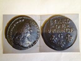 Liard Au Buste âgé Louis XIIII TÊTE à Dr Rv / Liard De France 3 Fleurs  G = Poitiers 3 Eme Type - 476-1789 Monnaies Seigneuriales