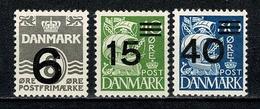 Danmark 1940,  Yv. 272/273**, 275**,  Mi. 255/256**, 258**, Fa 117**, 240**, 242** MNH - 1913-47 (Christian X)