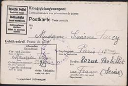 Guerre 39 45 Kriegsgefangenenpost Cachet KGF Glaser Batl III 1 Gepruft Rare Bataillon Vitriés Volontaires Date 17 9 44 - Briefe U. Dokumente