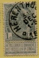 +MW-3880    *  HERENTHOUT     *   OCB 53      Sterstempel     COBA   +30 - 1893-1907 Wapenschild